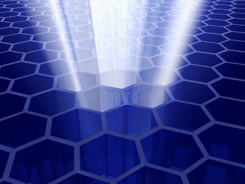 клетчатая технология иллюстрация штока