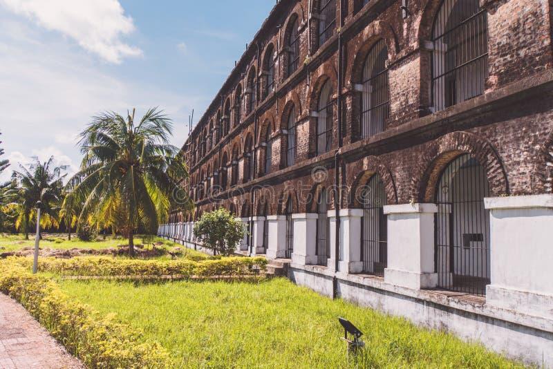 Клетчатая тюрьма в Port Blair стоковое изображение rf