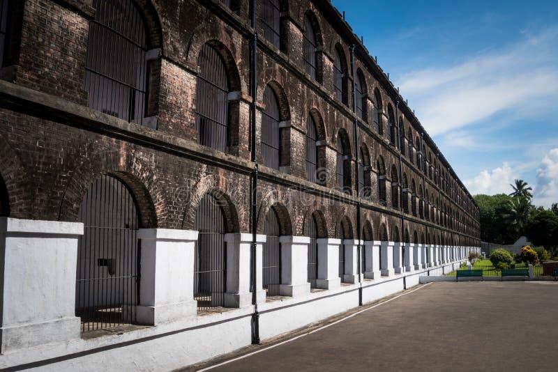 Клетчатая тюрьма в Port Blair стоковая фотография rf