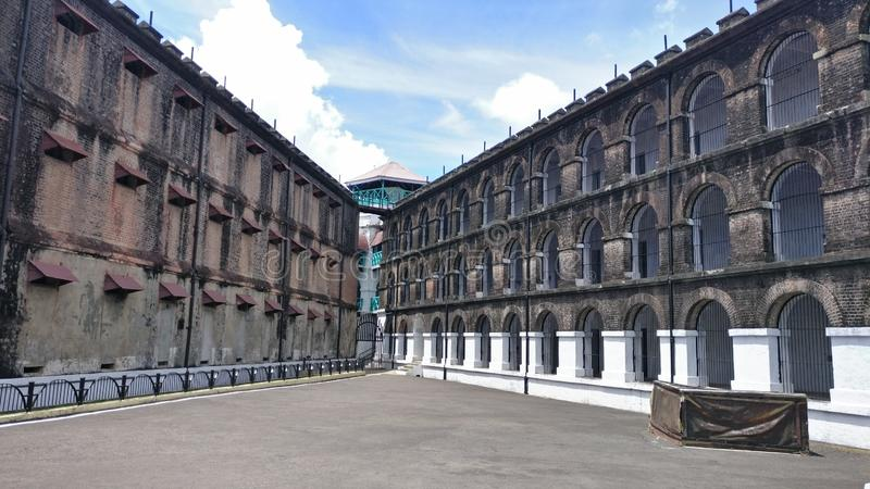 Клетчатая тюрьма, Port Blair стоковое фото