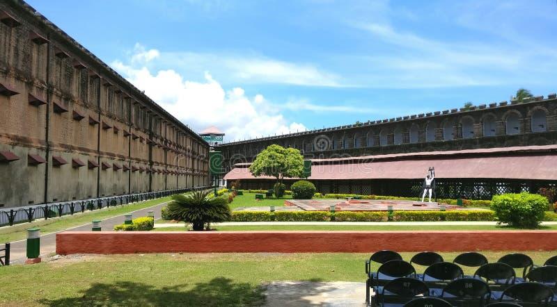 Клетчатая тюрьма, Port Blair стоковое изображение