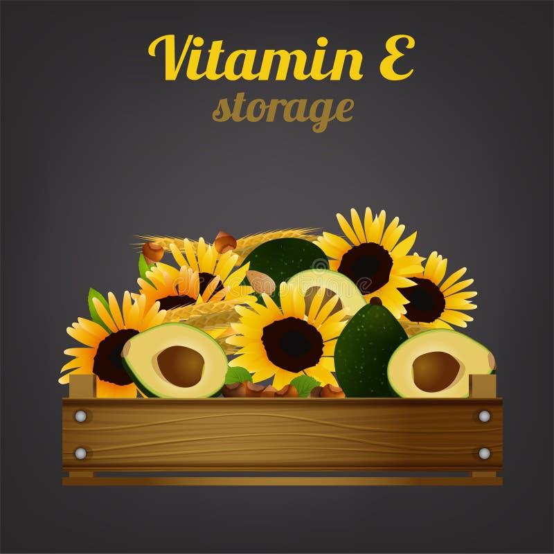 Клеть витамина e иллюстрация штока