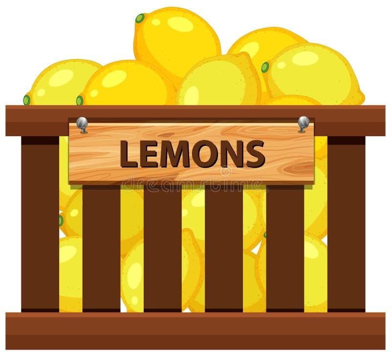 Клеть лимона бесплатная иллюстрация