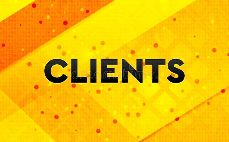 Клиенты резюмируют предпосылку цифрового знамени желтую иллюстрация вектора