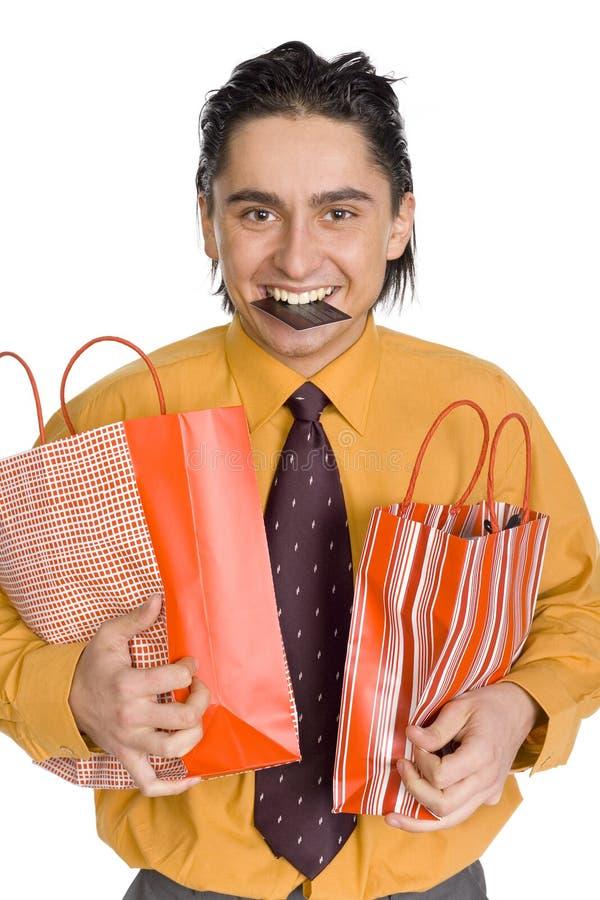 клиент счастливый стоковая фотография