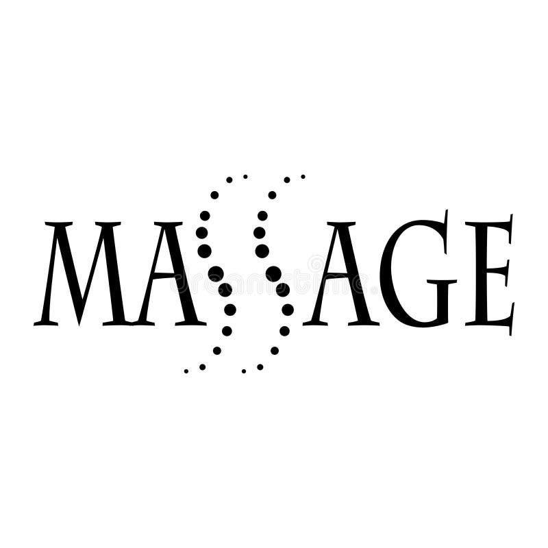 Клиника логотипа вектора общаясь со здоровьем задней части и позвоночника, osteopathy и терапией руководства - вектором бесплатная иллюстрация