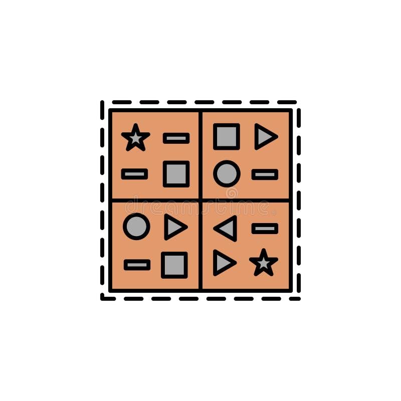 клинописный, язык, значок символов Элемент значка цвета истории для мобильных приложений концепции и сети Цвет клинописный, язык, иллюстрация вектора