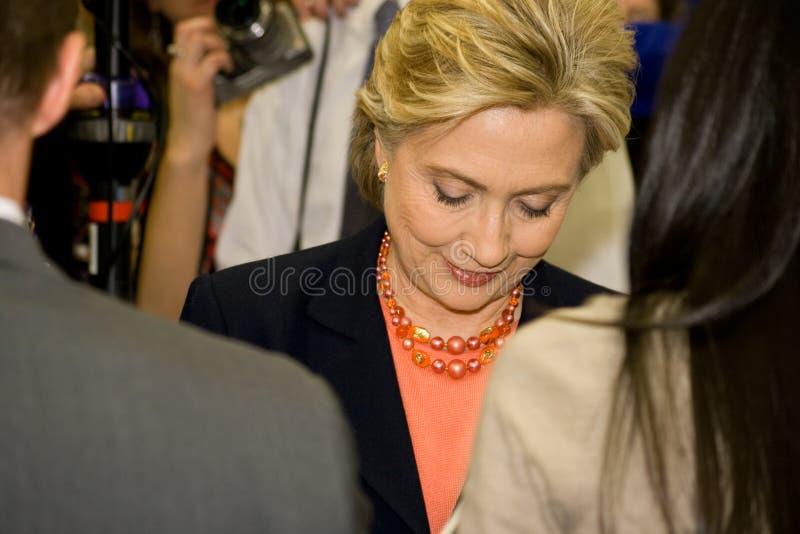 Клинтон приветствует tsu nashville встречи hillary стоковое изображение rf