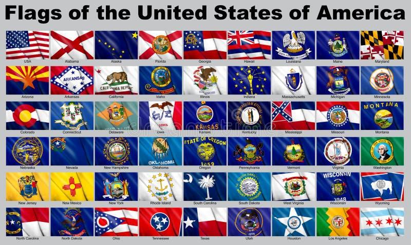 клиппирование flags путь США иллюстрация вектора