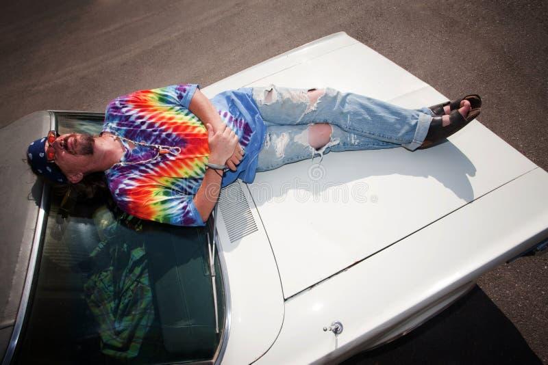клобук hippie автомобиля стоковое изображение rf