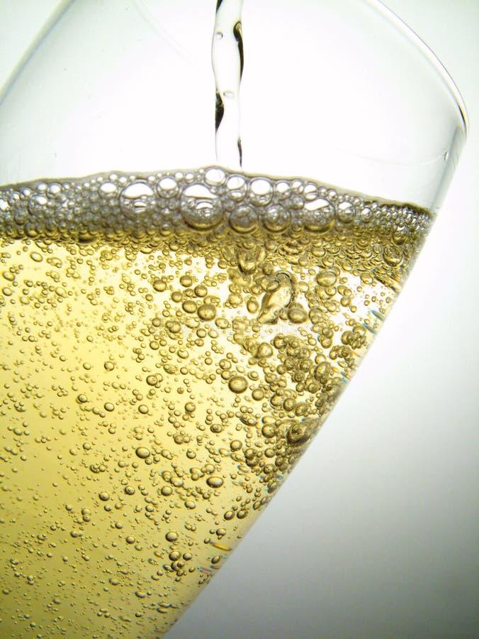 клокочет champage стоковая фотография rf