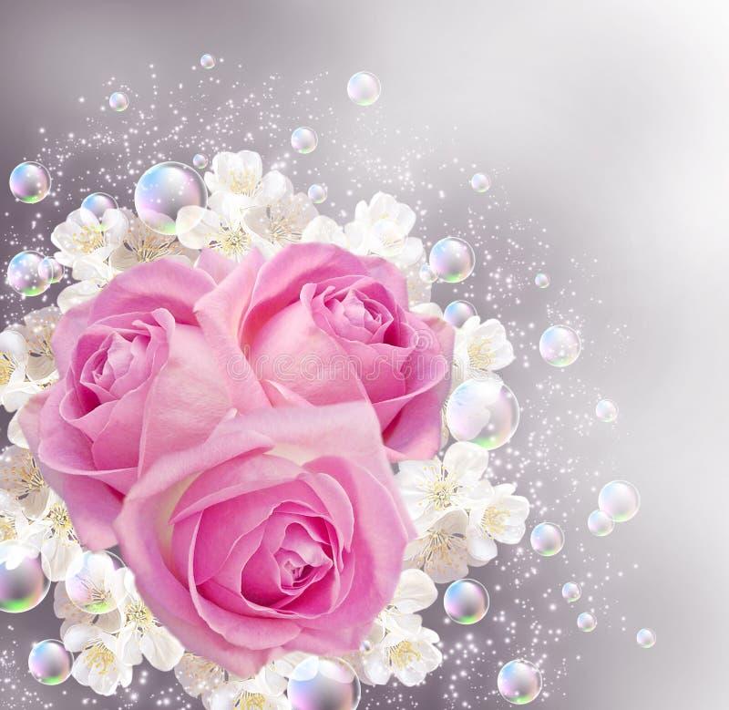 клокочут розы иллюстрация вектора