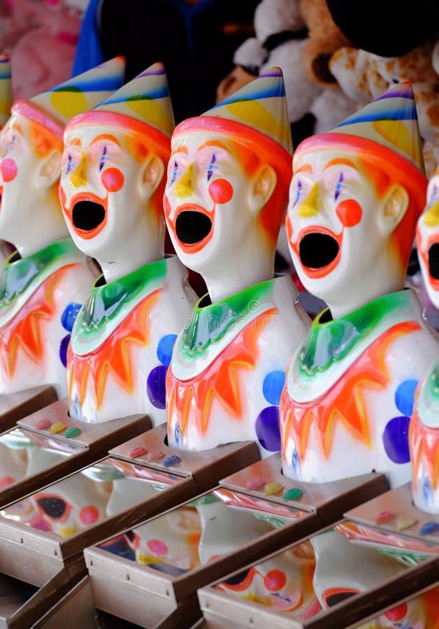 Клоуны масленицы на выставке Ekka Брисбена или королевской выставке Квинсленда, Брисбене, Австралии стоковые фото