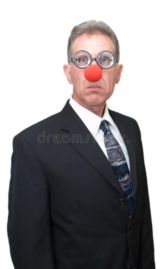 клоун бизнесмена дела юмористический стоковые изображения rf
