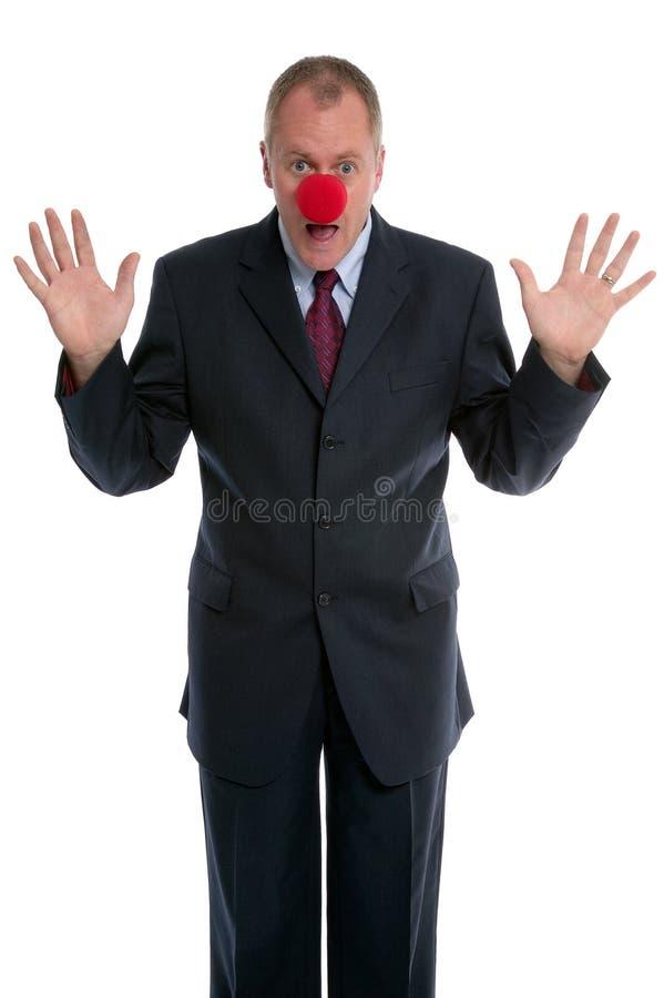 клоун бизнесмена стоковое изображение rf