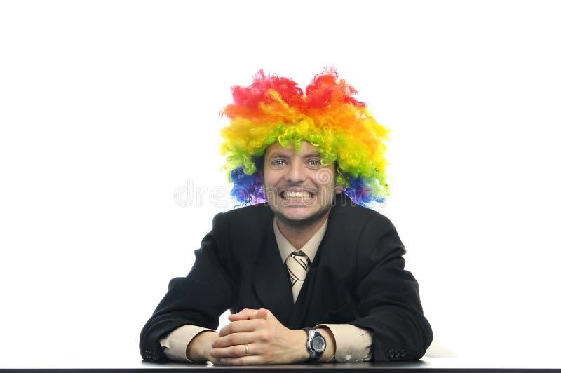клоун бизнесмена стоковое фото