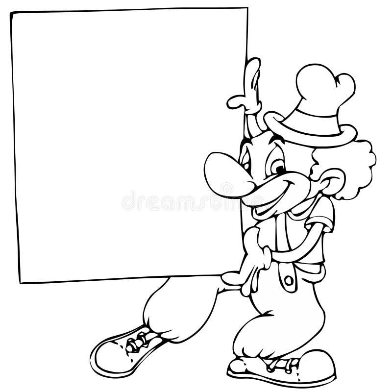 клоун знамени иллюстрация штока