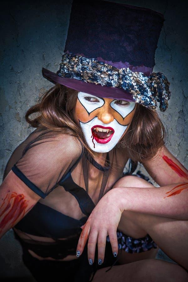 Клоун изверга портрета страшный стоковые изображения rf