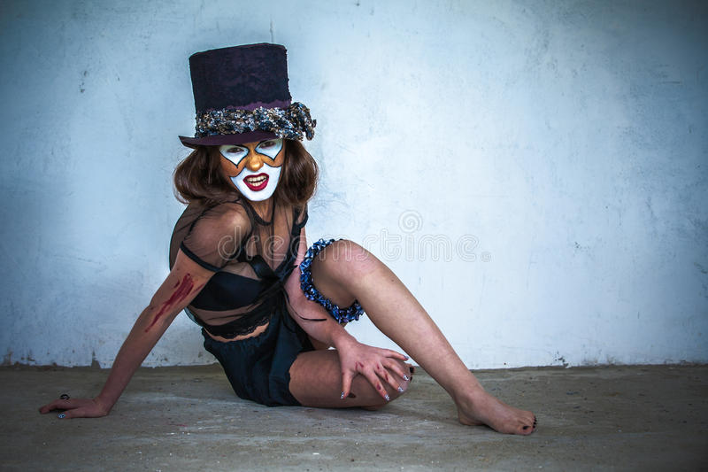 Клоун изверга портрета страшный стоковое изображение