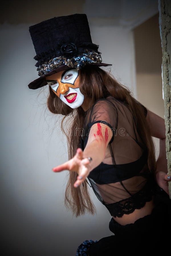 Клоун изверга портрета страшный стоковые изображения