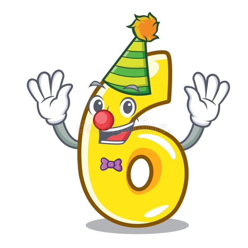 Клоун 6 изолированный на талисмане иллюстрация штока