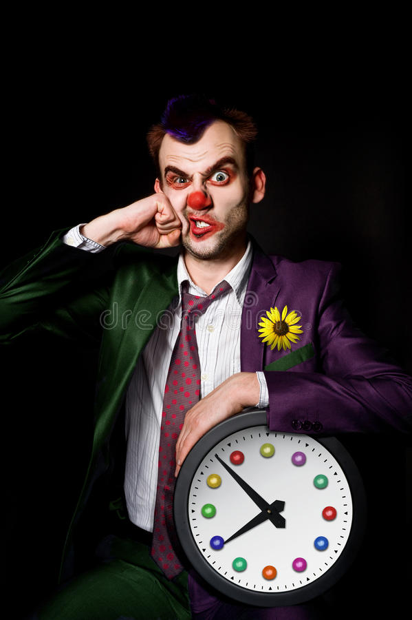 клоун пробил стоковое изображение rf