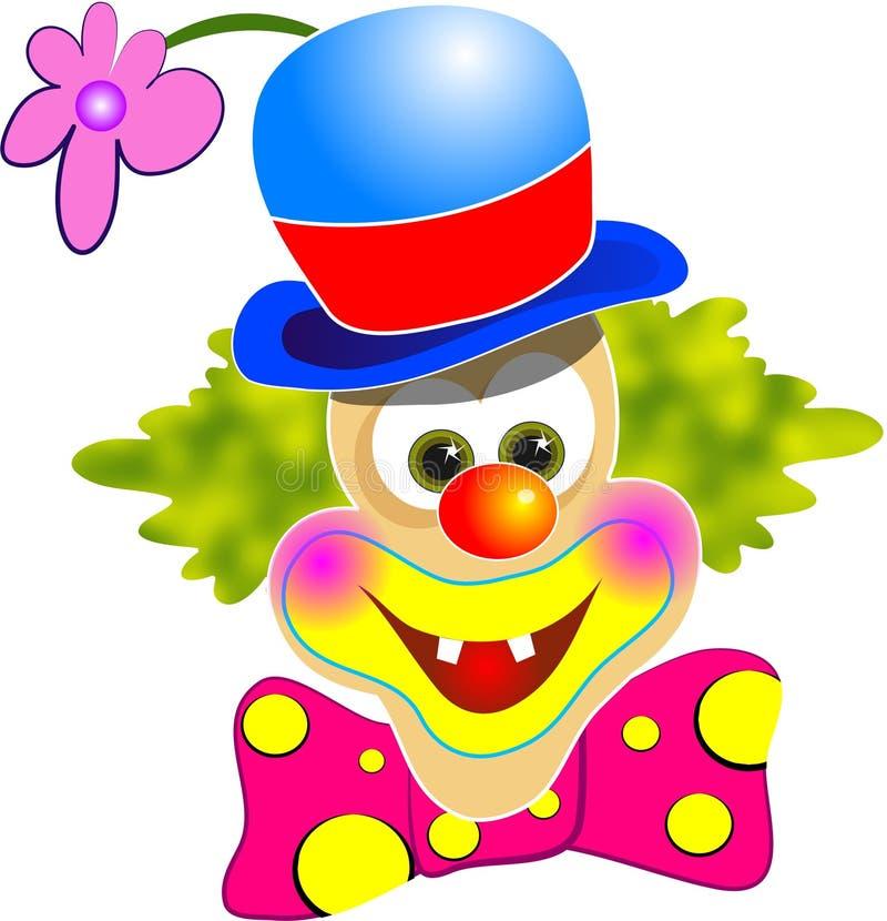 клоун счастливый иллюстрация вектора