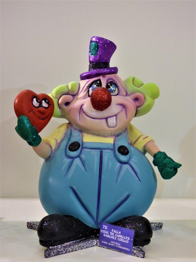 Клоун с его сердцем стоковая фотография