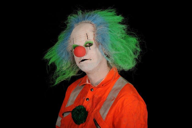 клоун унылый стоковое фото rf