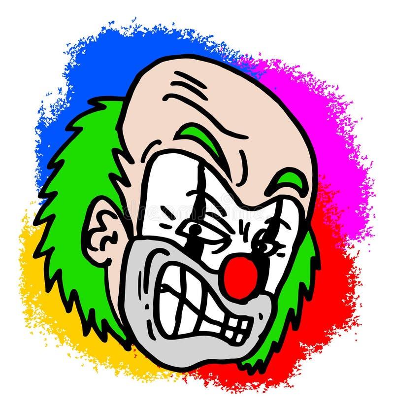 клоун цветастый иллюстрация вектора