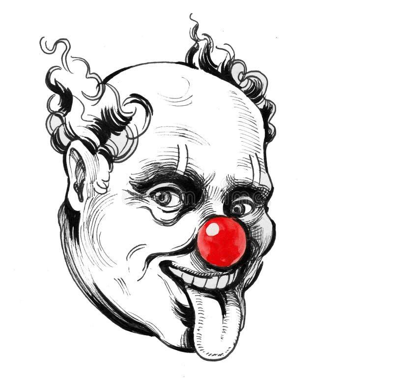 клоун шальной иллюстрация вектора