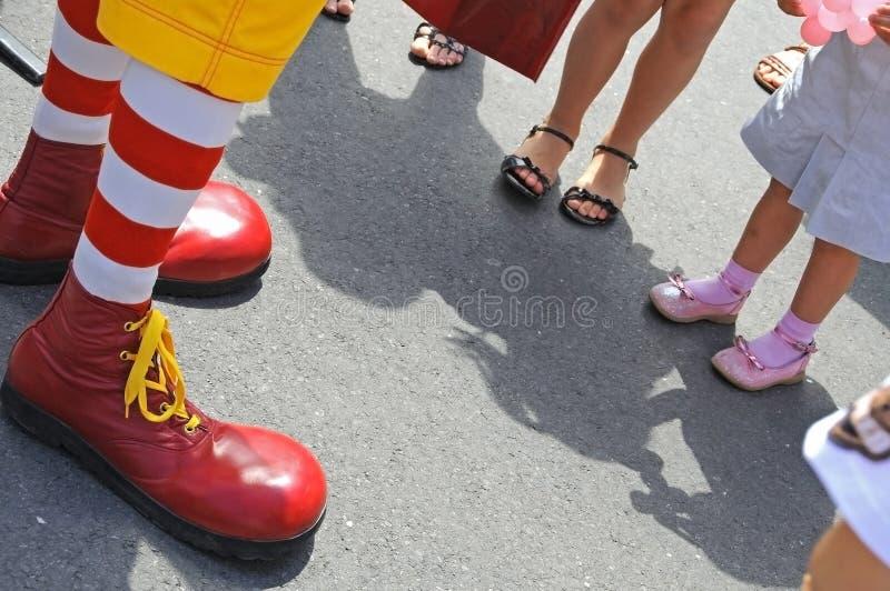 клоун choes смешной стоковое изображение