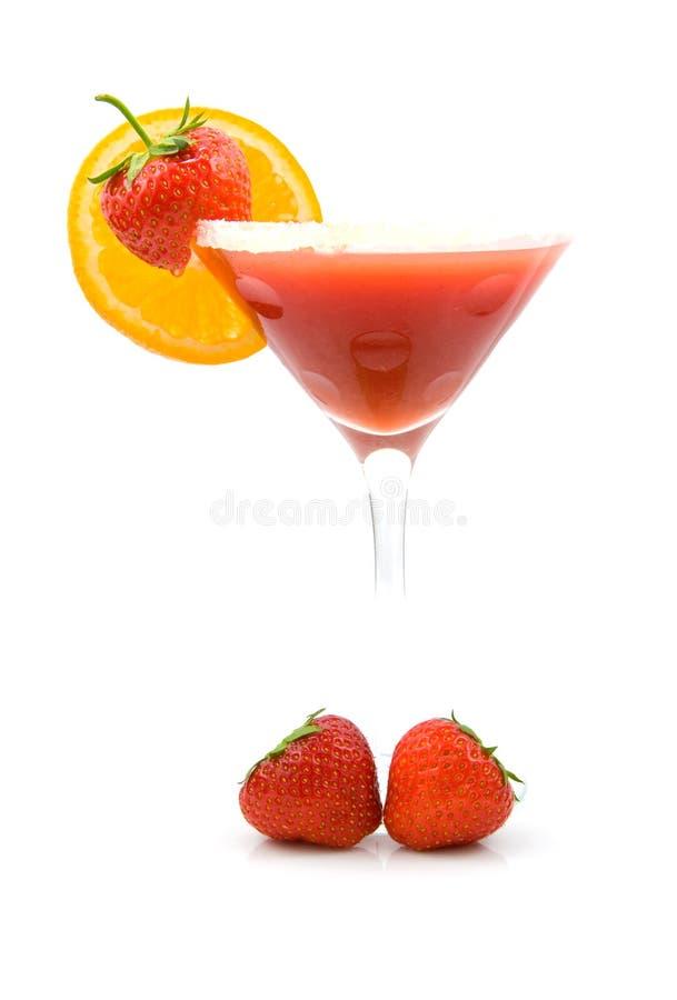 клубника коктеила тропическая стоковое фото