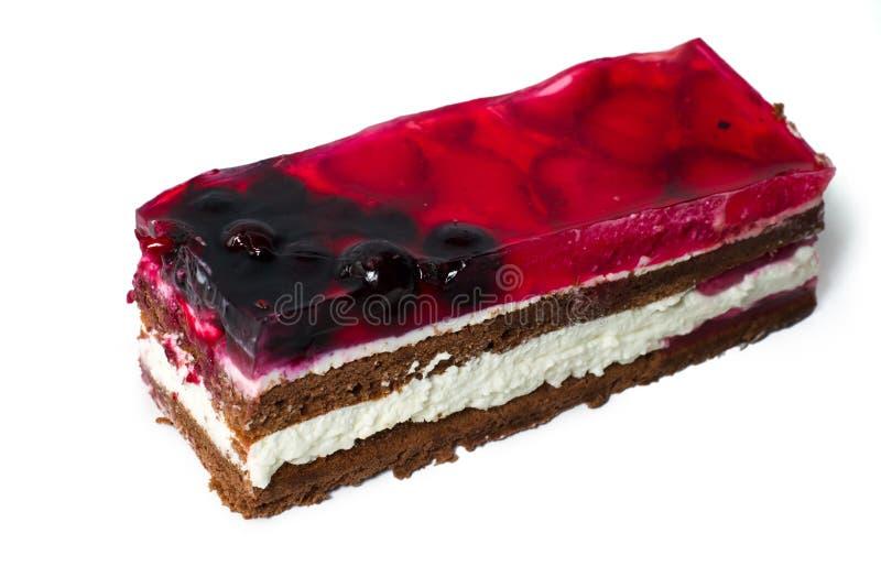 Download клубника части вишни торта стоковое изображение. изображение насчитывающей раздел - 18398069
