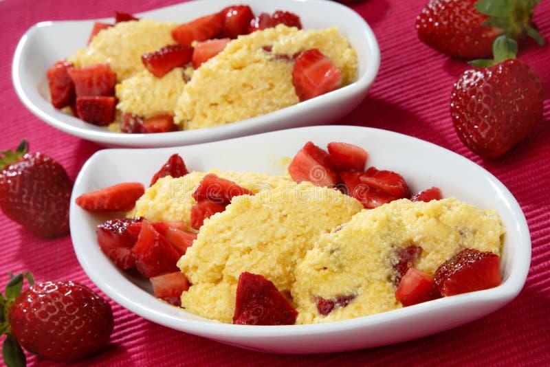 клубники cream десерта свежие стоковое фото rf