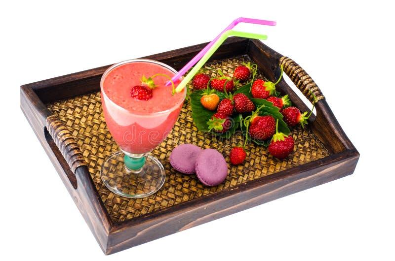 Клубничный пюре из свежих ягод, сладкий десерт стоковые фотографии rf
