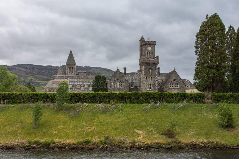 Клуб гористой местности аббатства на форте Augustus, Шотландии стоковая фотография