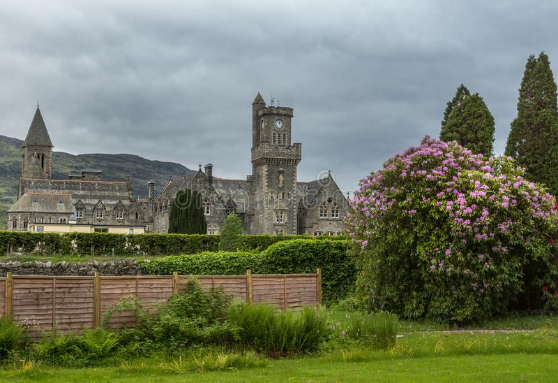 Клуб гористой местности аббатства на форте Augustus, Шотландии стоковое изображение rf
