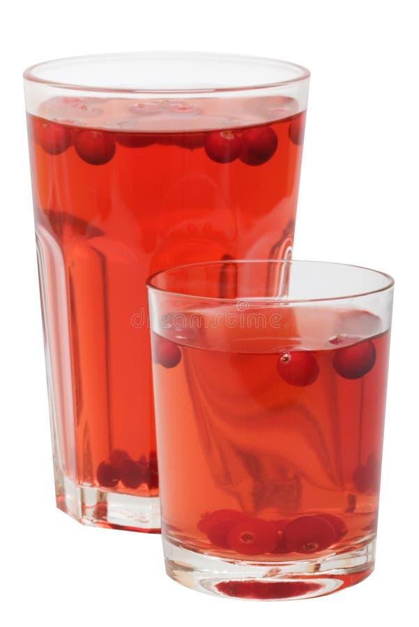 клюква выпивает красный цвет плодоовощ стоковые изображения