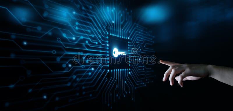 Ключевая концепция технологии интернета дела значка ключевых слов стоковое фото