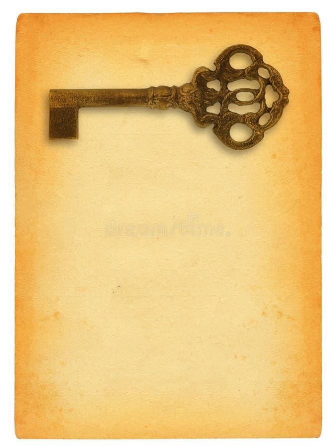 ключевая побудительная бумага стоковая фотография
