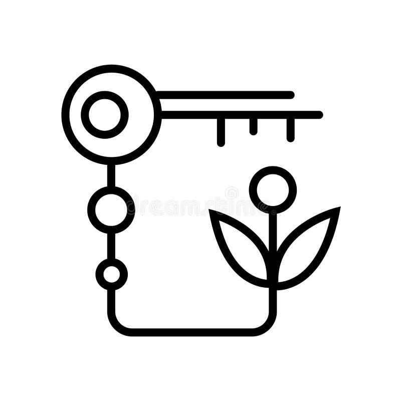 Ключевой вектор значка изолированный на белой предпосылке, ключевом знаке, линии или линейном знаке, дизайне элемента в стиле пла бесплатная иллюстрация