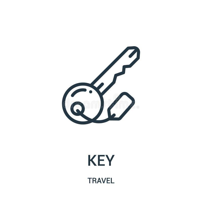 ключевой вектор значка от собрания перемещения Тонкая линия иллюстрация вектора значка плана ключа Линейный символ для пользы на  иллюстрация штока