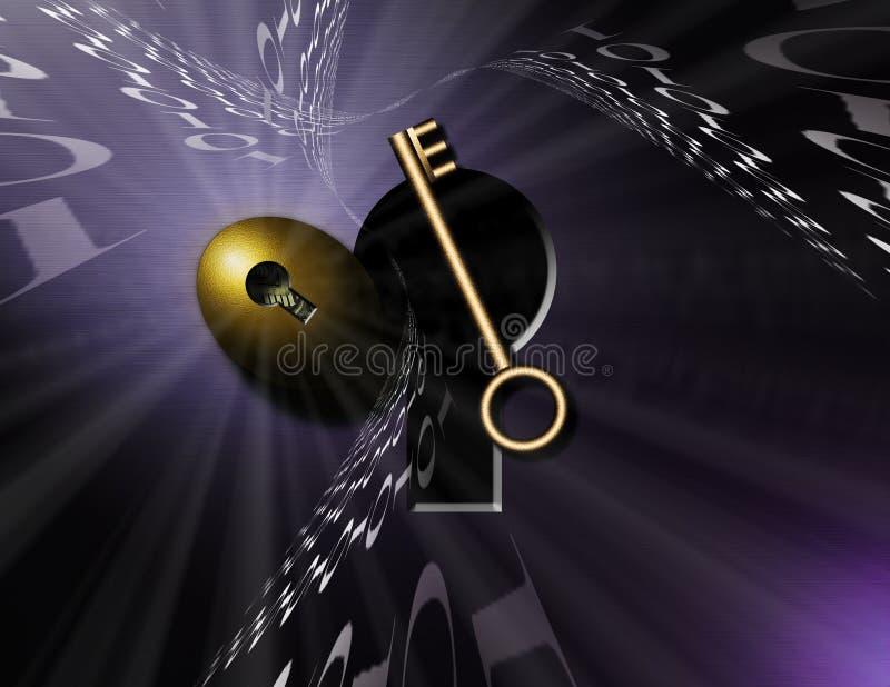 ключевой замок иллюстрация штока