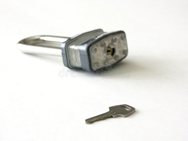 ключевой замок стоковое изображение