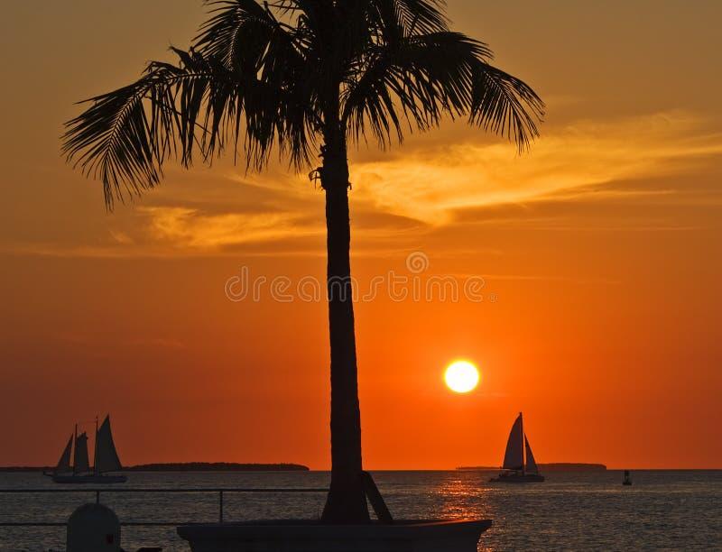 ключевой заход солнца западный стоковая фотография