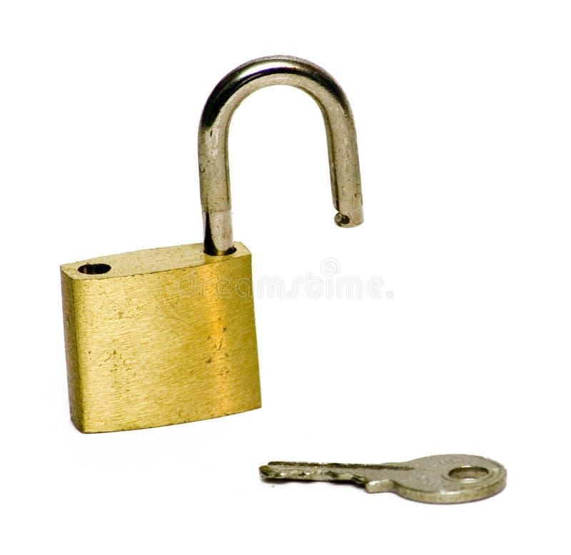 ключевой открынный замок Стоковое Изображение RF