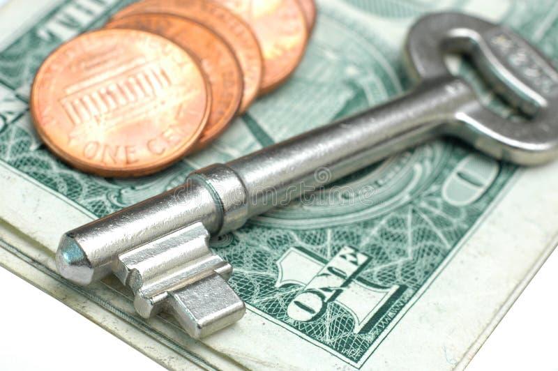 ключевые деньги стоковые фото