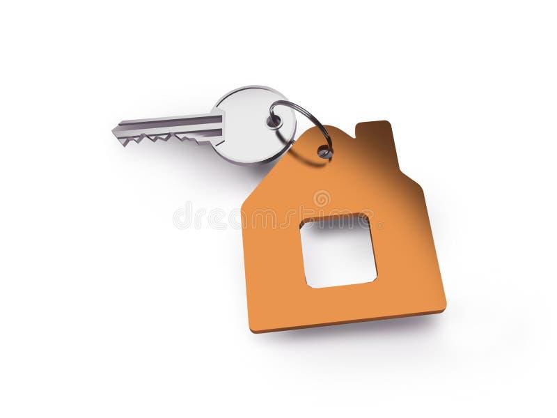 Ключи дома изолированные на белизне перевод 3d стоковая фотография