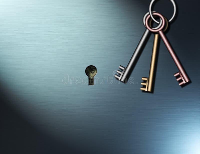 ключи к богатству иллюстрация вектора